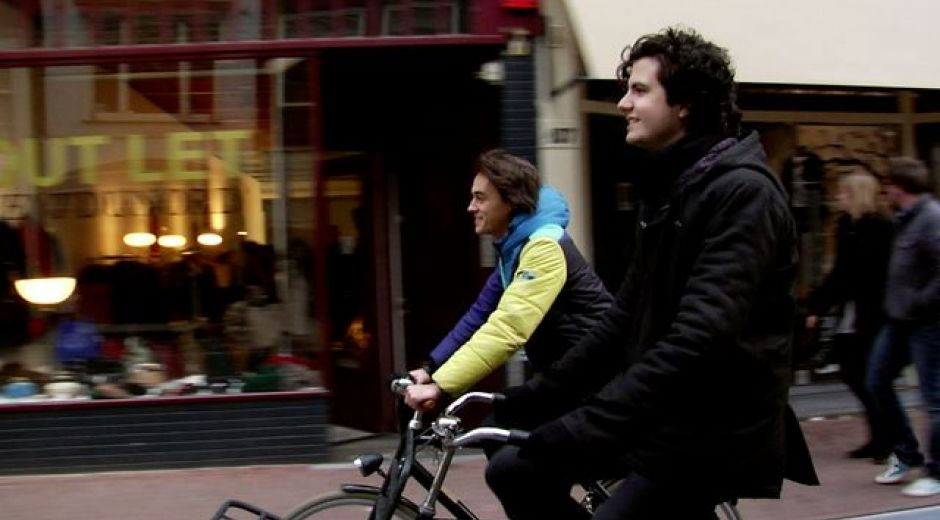 Cycling with Alexander & Ernst Jan